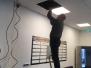 Nieuwe geluidsinstallatie plus tv in de kantine van Turnhal De Brêge. Bedankt Thomas van Terpstra Elektronika voor het installeren.