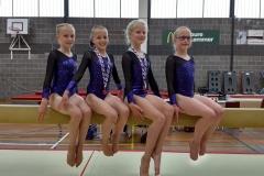 Foto 3 v.l.n.r. Flore Postma, Thirza Scherjon, Welmoed van der Bij, Baukje Anna van der Meulen